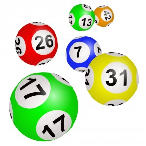 photo of lottery balls in color